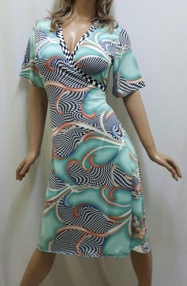 Купить халат женский вискозный на запах, размеры от 50 до 56, Украина