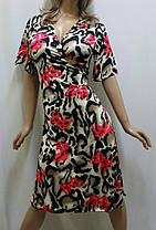 Купить халат женский вискозный на запах, размеры от 50 до 56, Украина, фото 2