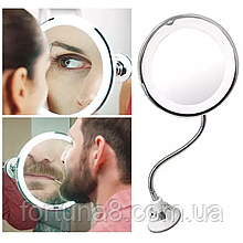 Гнучке дзеркало на присосці з 5x збільшенням і підсвічуванням LED MIRROR 5X