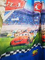 Тюль в детскую гоночные машинки