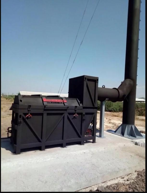 Утилизатор органических отходов УТ750Д (150 кг/ч) с теплообменником