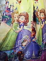 Тюль в детскую с принцесами