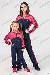 Спортивный костюм копия Adidas Family look для дочки и мамы