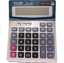 Калькулятор настольный Karuida DM-1200V, серый