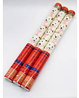 Пневматична хлопавка з білими ведмедиками 60см (8053-7) ціна за 1 шт