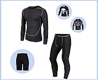 Комплекты рашгард, каратель, компрессионная одежда, кофта, легинсы