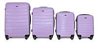 Набор чемоданов 4 штуки в 1 Fly 147 на 4 колесах Светло-фиолетовый, фото 1