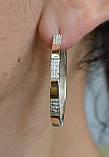 Серебряные серьги с золотыми напайками, фото 3