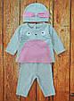 Комплект для девочки, ткань с начёсом на рост 86 см, фото 5