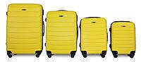 Набор чемоданов 4 штуки в 1 Fly 1107 на 4 колесах Желтый, фото 1