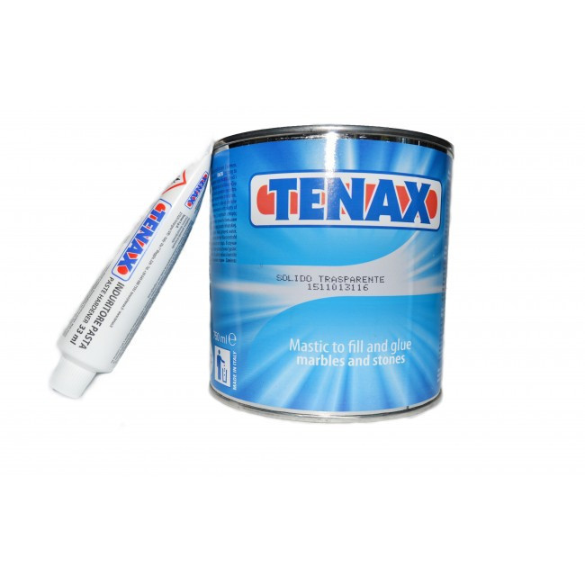 Полугустой прозрачный клей-шпатлёвка Solido Transparente для камня, мрамора, гранита, оникса (4л) TENAX