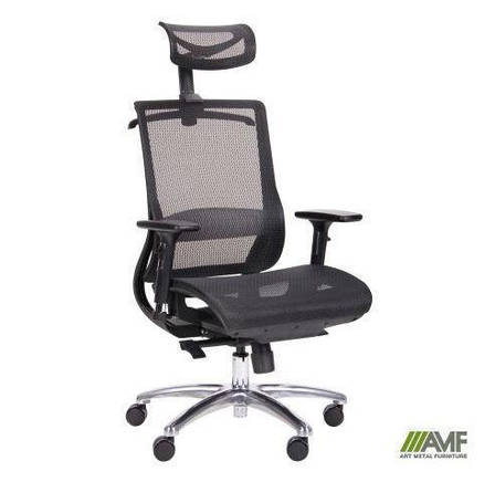 Кресло руководителя Кодер (Coder Black Alum Black) (с доставкой), фото 2
