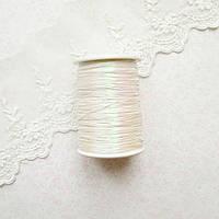 Металлизированная нить для вышивки, Индия, 0.5 мм - радужный молочный
