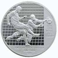 Чемпіонат світу з футболу 2006 Срібна монета 10 гривень  унція срібла 31,1 грам, фото 2