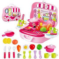 Іграшкова кухня у валізці 25 предметів (24х21х10 см),продукти,посуд, фото 1