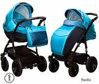 Детская универсальная коляска 2 в 1 Ajax Group  Viola Pacific (синий+я.голубой (58/31)