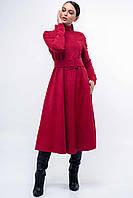 Оригинальное платье миди с юбкой клеш Stella long (42–52р) в расцветках