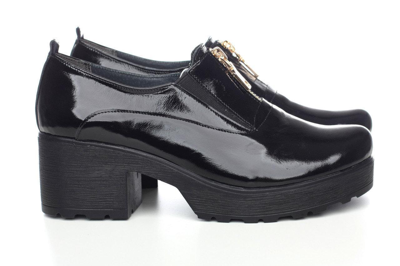 VM-Villomi Черные лаковые туфли с молнией спереди