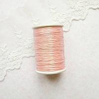 Металлизированная нить для вышивки, Индия, 0.5 мм - радужная розовая пудра