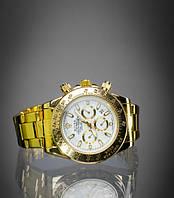 Стильные часы Rolex золото унисекс