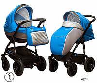 Детская универсальная коляска 2 в 1 Ajax Group Viola Agat (серый+я.голубой (98/14)