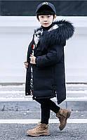 Детская куртка пальто для мальчика двухсторонняя