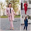 Батал до 62р Женский костюм пиджак с брюками 20126