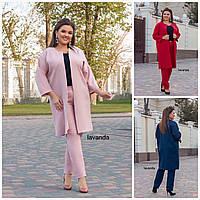 Батал до 62р Женский костюм пиджак с брюками 20126, фото 1