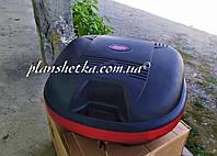 Мото кофр черный мат на один шлем со спинкой Soyo 810
