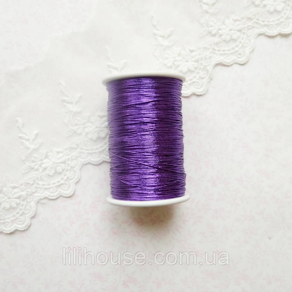 Металлизированная нить для вышивки, Индия, 0.5 мм - фиолетовый