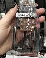Ремень кожаный Louis Vuitton, (с коробочкой для ремня), ремені