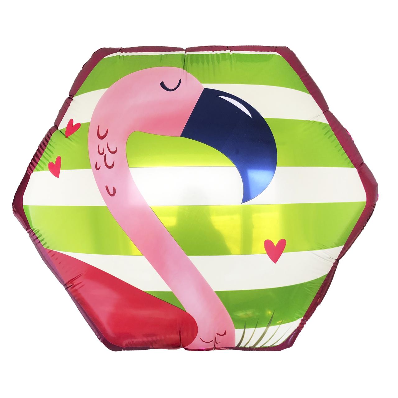 Фольгированный шар 23' Китай Фламинго в упаковке, 57 см