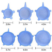 SALE! Силиконовые крышки круглые Super Stretch Silicone Lids!Розница и Опт, фото 2
