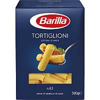 Макароны Barilla TORTIGLIONI №83 Трубочки 500 гр. Италия