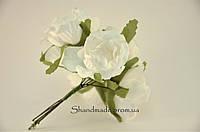 Эустома декоративная белого цвета для декора и поделок 4 см