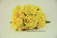 Эустома декоративная жёлтого цвета для декора и поделок 4 см