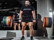 Пояс шкіряний атлетичний 60/150 мм, карабін, двошаровий, фото 7