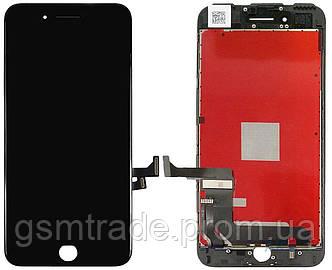 Дисплей iPhone 7 Plus, черный, с рамкой, с сенсорным экраном, Original