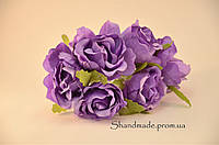 Эустома декоративная фиолетового цвета для декора и поделок 4 см.