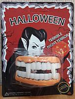 Щелепа вставна силіконова вампіра на Хелловін, Челюсть резиновая на хэллоуин, фото 2