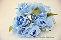 Эустома декоративная серо-голубого цвета для поделок и декора 4 см.