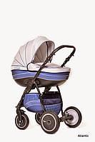 Детская универсальная коляска 2 в 1 Ajax Group Pride Atlantik (Синий+металлик (58/16))