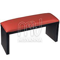 Подлокотник для маникюра темных ножках с красной подушкой