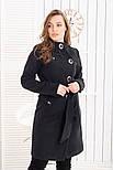 """Женское модное кашемировое пальто в расцветках """"Волна"""" (размеры 42, 44, 46, 48), фото 9"""