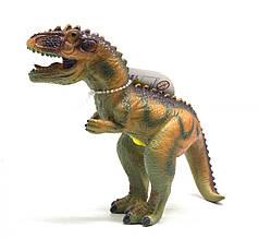 Динозавр резиновый Аллозавр, маленький  со звуком