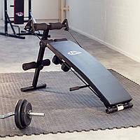 Наклонная тренировочная скамья (коплект с 2 тросами сопротивления и 2 гантелями)