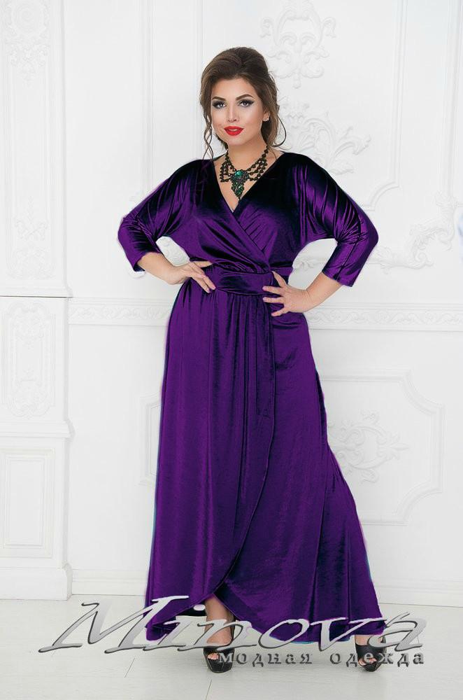 "Сказочное женское платье ткань ""Бархат"" 50, 52 размер батал"