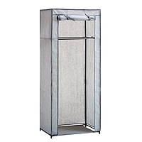 Тканевый шкаф органайзер портативный 1 секция (Серый)
