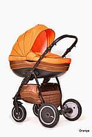 Детская универсальная коляска 2 в 1Ajax Group Pride Orange (Коричневый+оранжевый (85/05)