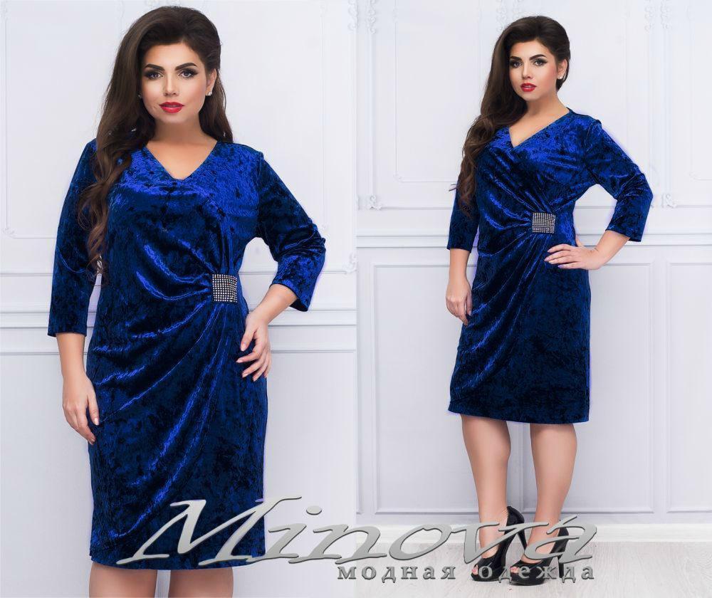 """Великолепное женское платье ткань """"Бархат"""" 52 размер батал"""